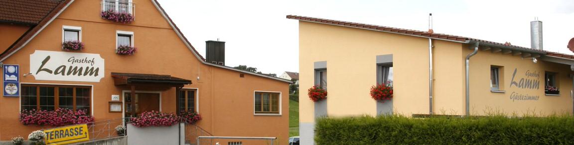 Gasthof Lamm, Pension in Ellwangen-Schrezheim bei Rosenberg