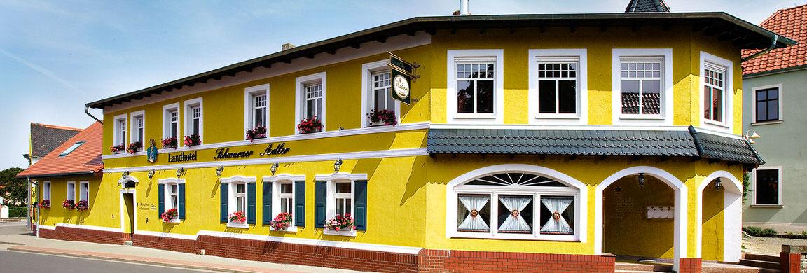 Landhotel Schwarzer Adler, Pension in Sülzetal-Osterweddingen bei Magdeburg