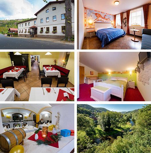 Saalfeld: Hotel / Fewos und Restaurant Bohlenblick