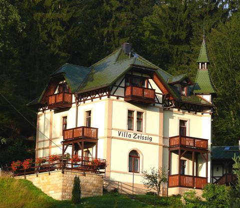 Pension Villa Zeissig, Pension in Kurort Rathen bei Porschendorf