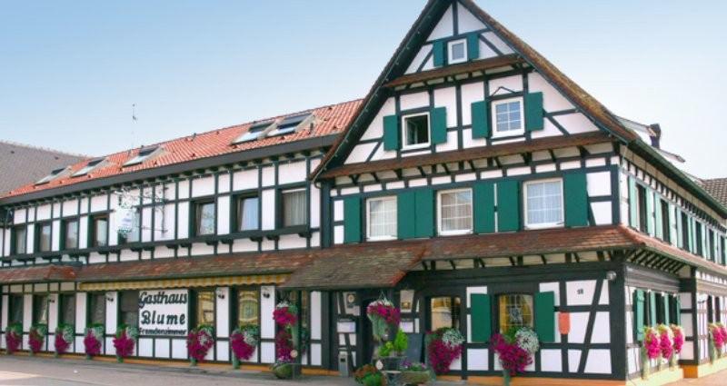Landgasthof zur Blume, Pension in Lichtenau Scherzheim  bei Flughafen Karlsruhe / Baden-Baden