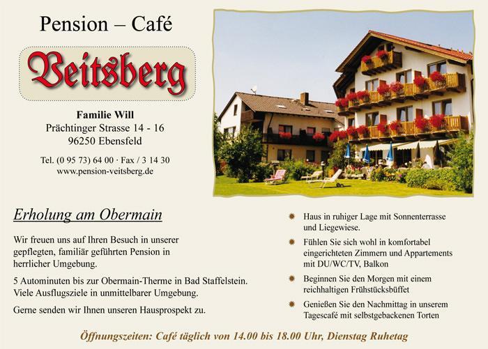 Pension Veitsberg, Pension in Ebensfeld bei Gädheim