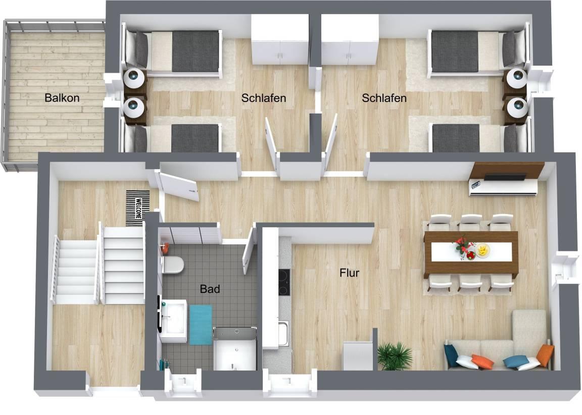 Room365 - Wohnen auf Zeit, Appartement in Darmstadt bei Flonheim